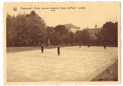 Landen Klooster Pensionnat - Ecole normale moyenne. Soeurs de Marie- Landen. Tennis