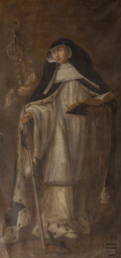 Schilderij van Gertrudis van Nijvel