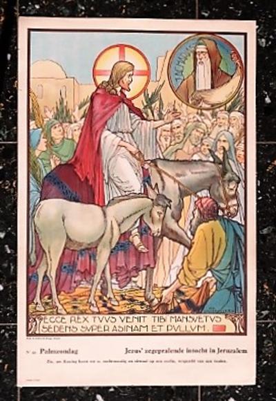 Prent 49: Jezus' zegepralende intocht in Jeruzalem