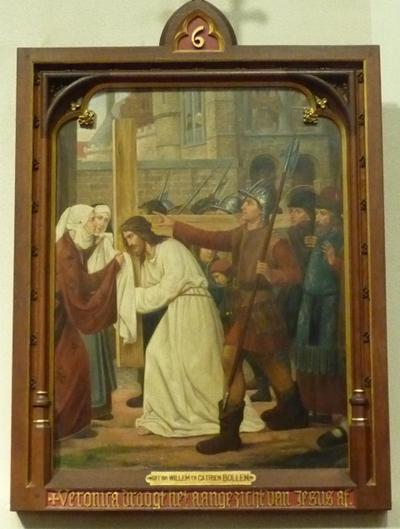 Statie 6: Veronna droogt het aangezicht van Jezus af.
