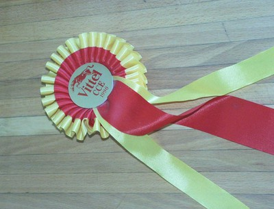 Roset paardensport van ruitster Karin Donckers 'Vittel CCE 1990'