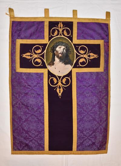 Vaandel met Christus met doornenkroon