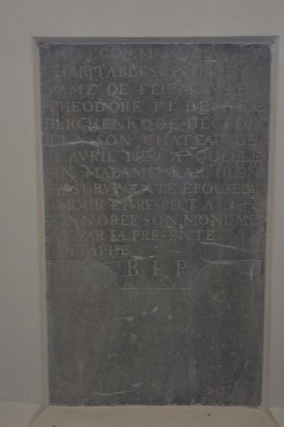 Grafmonument Theodore, Baron de Herckenrode
