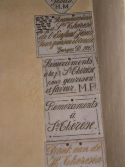 Ex-voto voor Theresia van Lisieux , of van het Kind Jezus