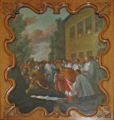 Terugvinding van het lichaam van de heilige Odilia van Hoei