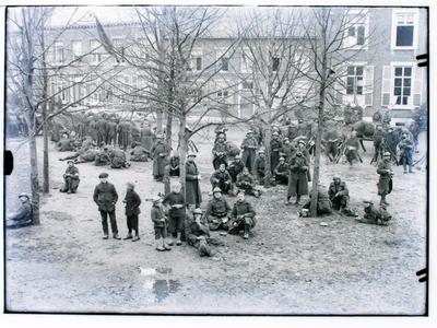 Aankomst Belgische soldaten na wapenstilstand