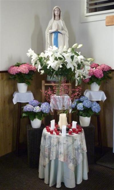 Beeld Onze-Lieve-Vrouw Lourdes