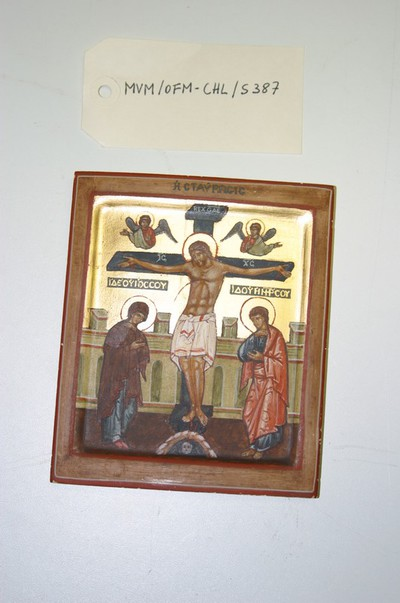 Kruisiging met Maria en Johannes