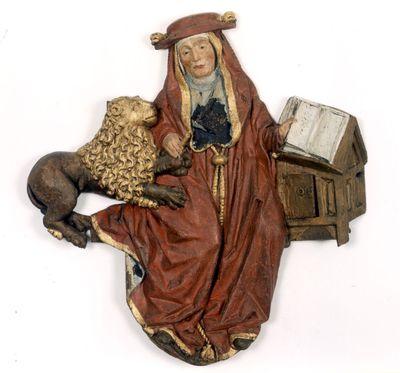 De heilige Hiëronymus van het triomfkruis in de Sint-Pieterskerk
