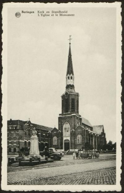 Beringen Kerk en Standbeeld L'Eglise et le Monument