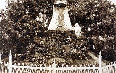 Foto: straatversiering: Het heilig Paterke, Onze-Lieve-Vrouw en het Heilig Sacrament, Manteliusstraat (Virga Jessefeesten, Hasselt, 1926)