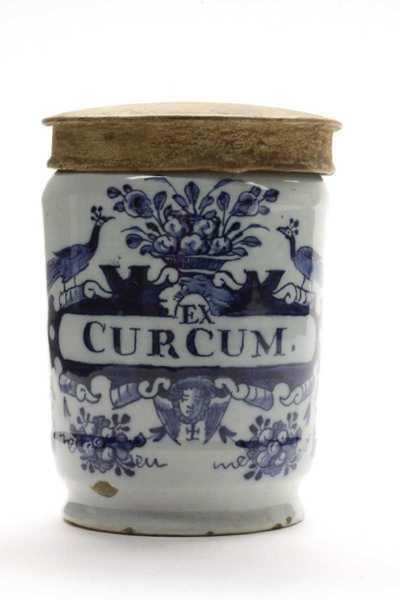 Delfts blauwe apothekerspot; EX CURCUM