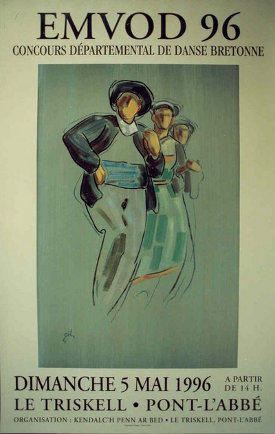 Emvod 96: Concours Départemental de Danse Bretonne, Dimanche 5 Mai 1996, Le Triskell . Pont - L'Abbé