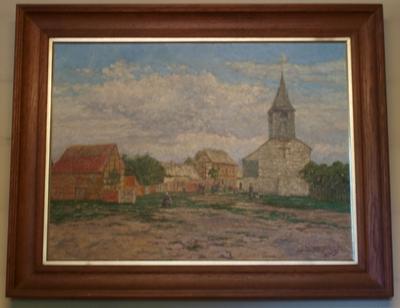 Oude kerk, pastorie en tiendeschuur