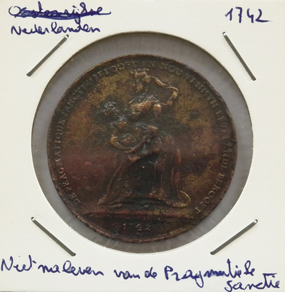 Niet naleven van de Pragmatieke Sanktie, Nederlanden, 1742, brons