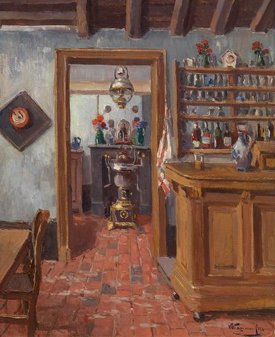 Café-interieur, ca. 1890-1915