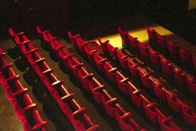 Speelzaal Theater Corso - vanaf balkon (côté jardin)