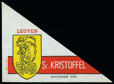 Bedevaartvaantje, Sint-Kristoffel, Leuven