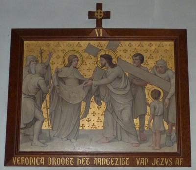 Veronica droogt het aangezicht van Jezus