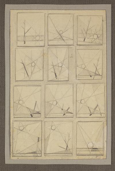 Studies abstracte landschappen