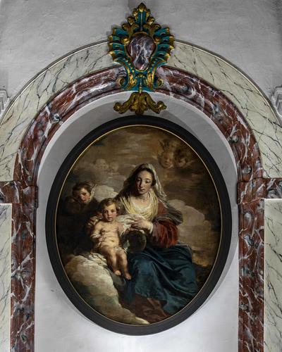 Maria met Kind Jezus, van engelen omgeven