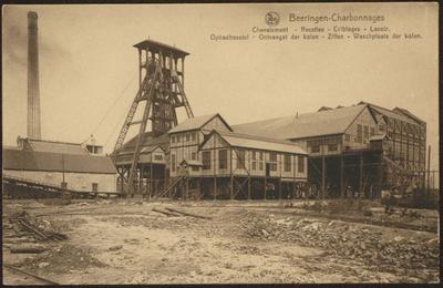 Beeringen - Charbonnages Chevalement - Recettes - Criblages - Lavoir. Ophaaltoestel - Ontvangst der kolen - Ziften - Waschplaats der kolen.