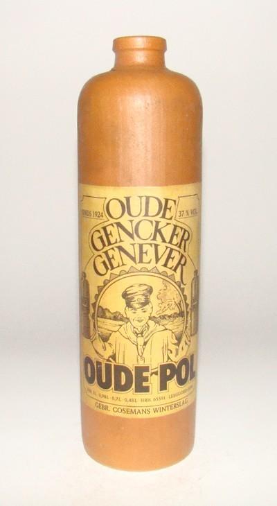 Jeneverstoop 'Oude Gencker Genever Oude Pol' voor Cosemans, Genk, ca. 1970-1990