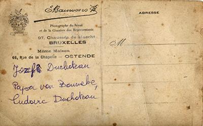 Postkaart van Duchateau Jean