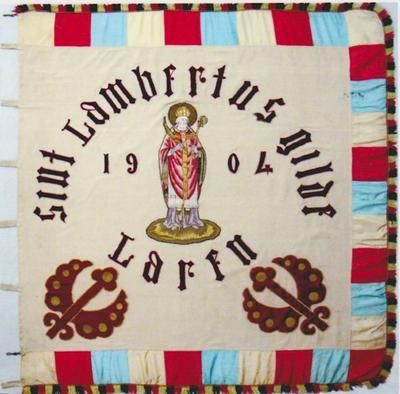 Vlag van schuttersgilde Sint-Lambertus Laren 1904