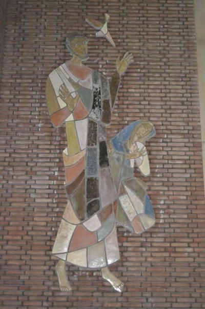 Heilige Jozef en Maria met duif