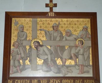 De tweede val van Jezus onder zijn kruis