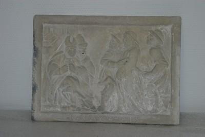 Kruisweg statie: Christus wordt ter dood veroordeeld (4 CAYPHAIS)