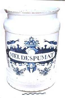 Delfts blauwe apothekerspot; MELDESPUMAT