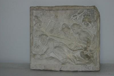 Kruisweg statie: Christus valt voor de tweede maal (8 CRUYSDRAEGYNGE)