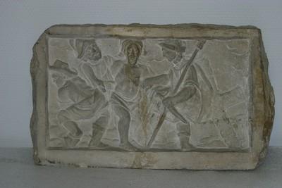 Kruisweg statie : Christus wordt van zijn kleren beroofd