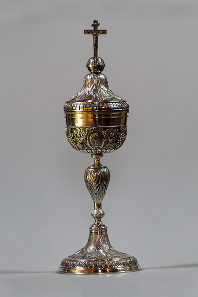 zilveren ciborie