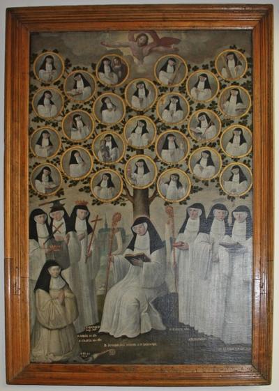 Stamboom met vrouwelijke cisterciënzerheiligen