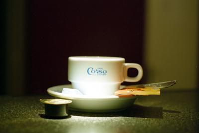 Koffiekopje met logo Corso