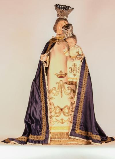 Processiemantel voor Mariabeeld