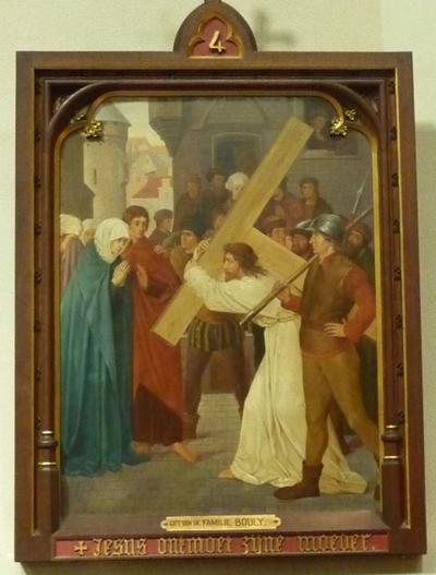 Statie 4: Jezus ontmoet zijne moeder.
