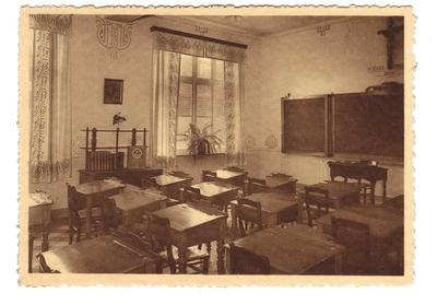 Landen Klooster, Pensionnat - Ecole Normale moyenne Soeurs de Marie - Une classe