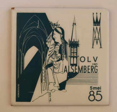 Herdenkingstegel Mariastoet Alsemberg 1985
