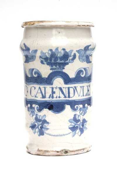 Delfts blauwe apothekerspot; C. CALENDVLE