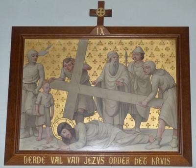 Derde val van Jezus onder het kruis