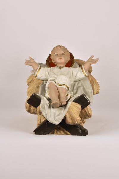 Kerststalfiguur 'Jezus in kribbe'