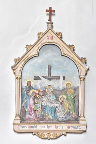 Jesus wordt van het kruis genomen