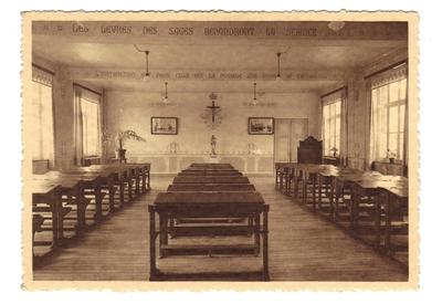 Landen Klooster, Pensionnat - Ecole Normale moyenne Soeurs de Marie - Landen. Salle d'etude
