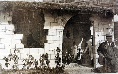 Foto: straatversiering: Het huisje van Nazareth, Bampslaan (Virga Jessefeesten, Hasselt, 1926)