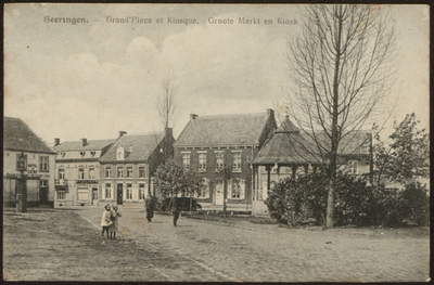 Beeringen. - Grand'Place et Kiosque. Groote Markt en Kiosk