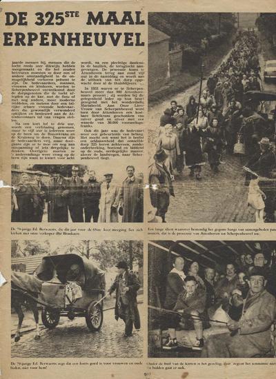 Krantenartikel 325ste bedevaart van Attenhoven naar Scherpenheuvel